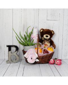 Teddy Bear & Blankets Baby Gift Set