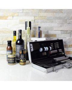 Mediterranean Barbeque Gift Set with Wine