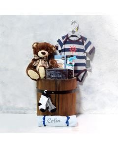 BEAR & THE CAPTAIN BABY GIFT BASKET