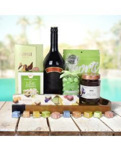 GREEN ISLE SWEETS CHOCOLATE & LIQUOR BASKET