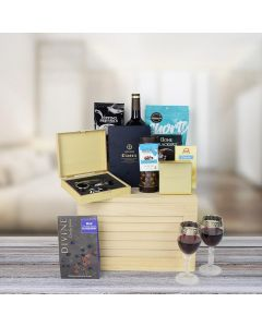Chocolate & Wine Treat Gift Crate