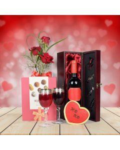 Chocolate & Wine Valentine's Day Basket