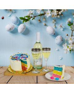 Easter Cake & Wine Basket