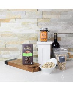 Nuts & Wine Gift Basket