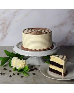 Black + White Layer Cake