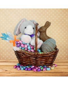 Easter Bunny and Eggs Gift Basket