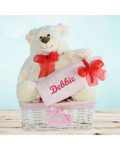 Celebrating A Beautiful Baby Girl Gift Basket