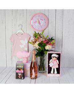 CELEBRATORY BABY GIRL GIFT BASKET