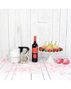 Chocolate Pear Platter & Wine Gift Set