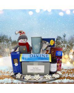 Chocolate and Tea Christmas Gift Basket