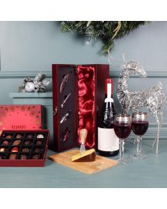 Christmas Wine, Cheese & Chocolate Basket