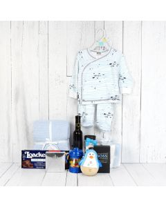 All-in-One Baby Gift Set with Wine