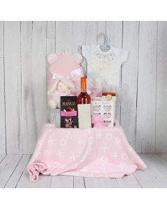 Fun for Mom and Baby Girl Gift Basket