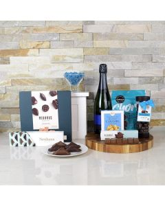 SPARKLING WINE & NAUGHTY CHOCOLATES GIFT BASKET