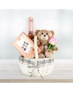 Bear & Bubbly Valentine's Gift Basket