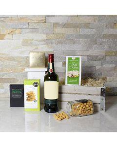 St. Patrick's Day Liquor & Snack Basket
