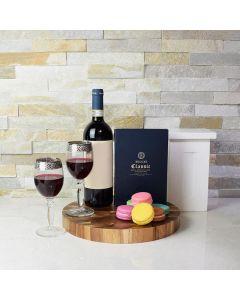 Fantastic Macaron & Wine Gift Set