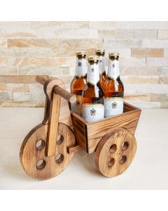 Father's Day Rustic Beer Cart, beer gift baskets, gourmet gifts, gifts, father's day, father's day gifts