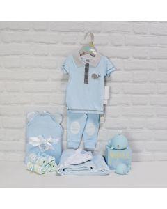 BABY BOY'S BATH & TOY SET