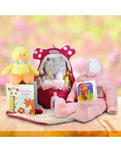 Story Time Baby Girl Gift Basket