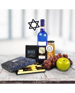 Gourmet Chocolates & Wine Hanukkah Gift Basket