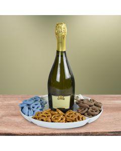 Pretzels At Play Champagne Gift Basket