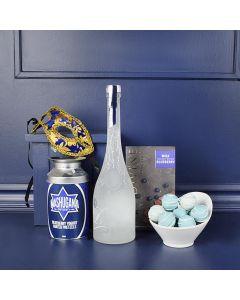 Something Blue Liquor Gift Basket