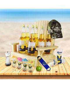 Corona Beach Chair Beer Gift Basket