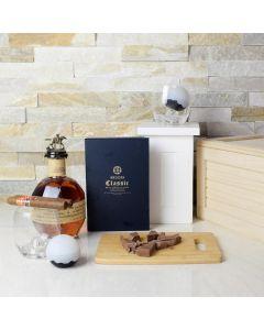 Bourbon & Cigars Liquor Gift Basket
