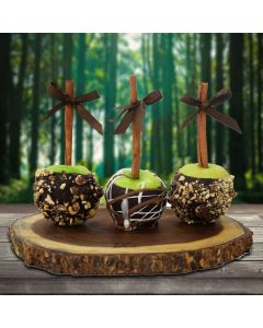 Chocolate Dipped Green Apples