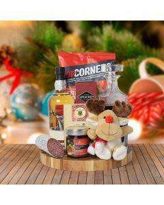 Rudolph's Liquor & Snacking Gift Basket