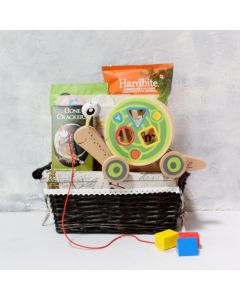 HAPE WALK-A-LONG SNAIL BABY GIFT BASKET