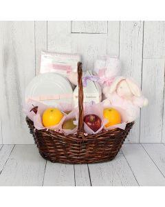 Fresh & Pink Baby Gift Basket