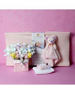BABY GIRL COMFORT & CLOTHING SET
