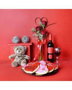 Love, Wine & Cookies Valentine's Day Gift Basket