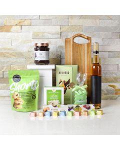 GREEN MEADOWS CHOCOLATE & WINE BASKET