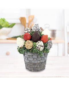 Handmade Chocolate Dipped Strawberries Apple Basket