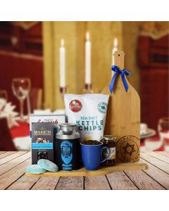 Hanukkah Coffee & Snacks Gift Basket