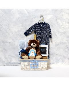 Baby Boy's Flip N Sip Gift Set with Champagne