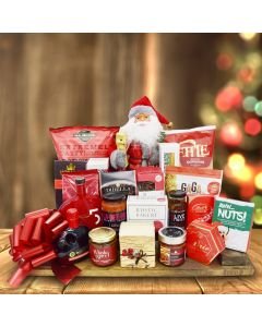 The North Pole Gourmet Champagne Christmas Gift Basket