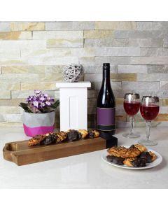 Classy Wine & Macaroons Gift Basket