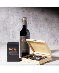 Wine & Medium Dark Chocolate Gift Set
