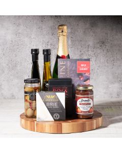 Happy Snacking Champagne Gift Basket