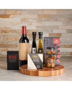 Relax & Snack Wine Gift Basket