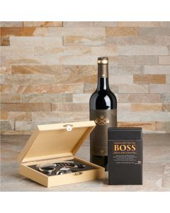 Perfect Pairing Wine Gift Set, Wine Gift Baskets, Gluten-free Gift Baskets, Chocolate Gift Baskets, USA Delivery