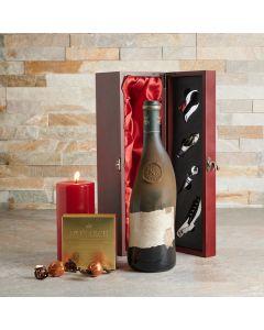 Candlelight Wine & Truffles Gift Basket, Wine Gift Baskets, Chocolate Gift Baskets, USA Delivery