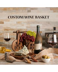 Custom Wine Baskets, Custom Baskets, USA Delivery