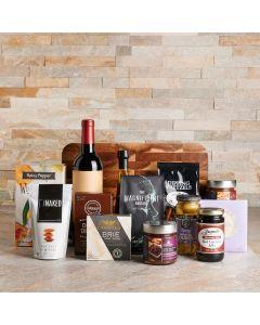 Brunch Appetizer & Wine Gift Set, Wine Gift Baskets, Gourmet Gift Baskets, USA Delivery