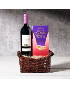 The Wine & Chocolates Gift Set, Kosher Gift Baskets, Gourmet Gift Baskets, USA Delivery