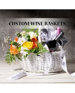 Custom Wine Gift Baskets, Custom Gift Baskets, USA Delivery